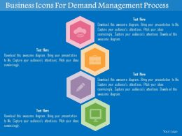 Business Icons For Demand Management Process Flat Powerpoint Design