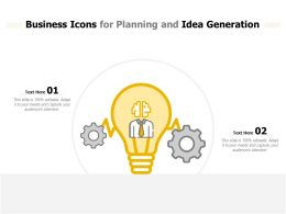 Business Icons For Planning And Idea Generation