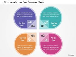 Business Icons For Process Flow Flat Powerpoint Design