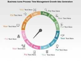 Business Icons Process Time Management Growth Idea Generation Flat Powerpoint Design