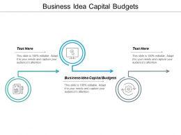 Business Idea Capital Budgets Ppt Powerpoint Presentation Model Format Ideas Cpb