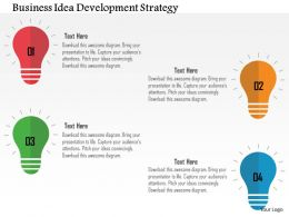 Business Idea Development Strategy Flat Powerpoint Design