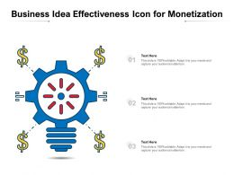 Business Idea Effectiveness Icon For Monetization