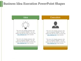 Business Idea Execution Powerpoint Shapes