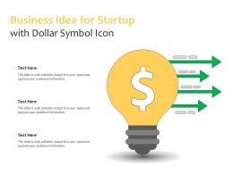 Business Idea For Startup With Dollar Symbol Icon
