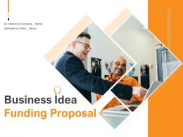 Business Idea Funding Proposal Powerpoint Presentation Slides