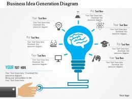 Business Idea Generation Diagram Flat Powerpoint Design