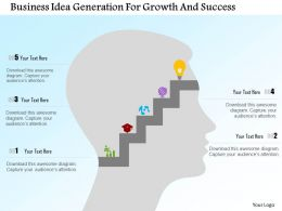 Business Idea Generation For Growth And Success Flat Powerpoint Design
