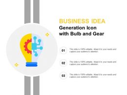 Business Idea Generation Icon With Bulb And Gear