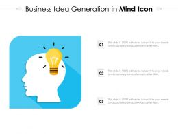 Business Idea Generation In Mind Icon