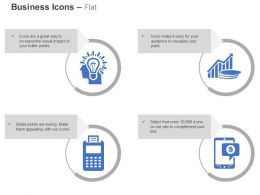 Business Idea Generation Mobile Growth Bar Graph Devices Ppt Icons Graphics