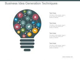 Business Idea Generation Techniques Powerpoint Slide Templates