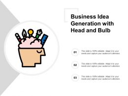 Business Idea Generation With Head And Bulb
