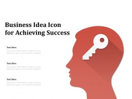Business Idea Icon For Achieving Success