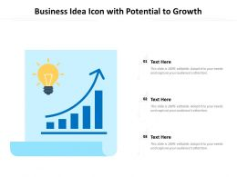 Business Idea Icon With Potential To Growth