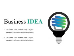 Business Idea Sample Of Ppt Presentation
