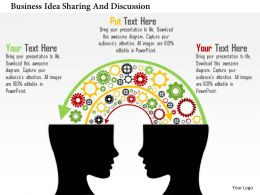 Business Idea Sharing And Discussion Flat Powerpoint Design