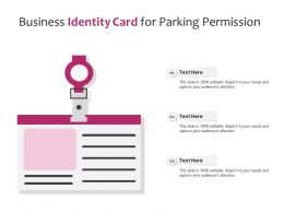 Business Identity Card For Parking Permission