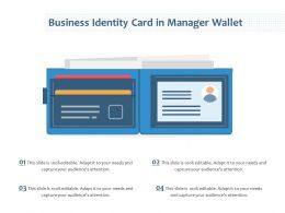 Business Identity Card In Manager Wallet