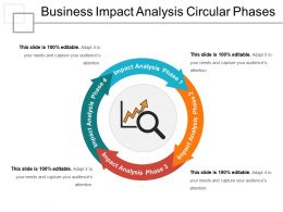 Business Impact Analysis Circular Phases