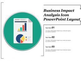 Business Impact Analysis Icon Powerpoint Layout