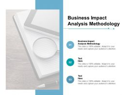 Business Impact Analysis Methodology Ppt Powerpoint Presentation Professional Files Cpb