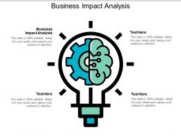 Business Impact Analysis Ppt Powerpoint Presentation Outline Visuals Cpb