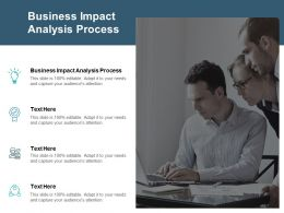 Business Impact Analysis Process Ppt Powerpoint Presentation Slides Portrait Cpb