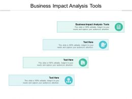 Business Impact Analysis Tools Ppt Powerpoint Presentation Infographics Cpb