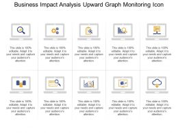 Business Impact Analysis Upward Graph Monitoring Icon