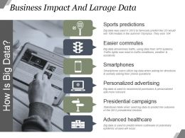 Business Impact And Large Data Powerpoint Layout