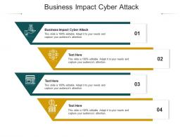 Business Impact Cyber Attack Ppt Powerpoint Presentation Infographics Backgrounds Cpb
