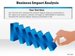 business impact dominoes falling cause and effect analysis powerpoint diagram templates graphics 712