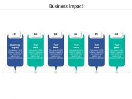 Business Impact Ppt Powerpoint Presentation Sample Cpb