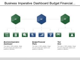 Business Imperative Dashboard Budget Financial Plans Agenda Setting
