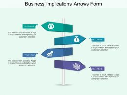 Business Implications Arrows Form