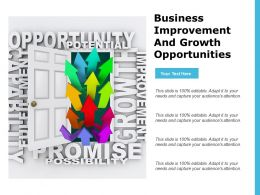 Business Improvement And Growth Opportunities