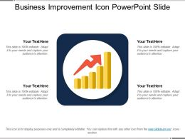 Business Improvement Icon Powerpoint Slide