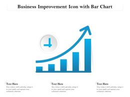 Business Improvement Icon With Bar Chart