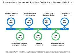 Business Improvement Key Business Drivers And Application Architecture