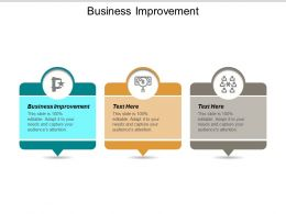 Business Improvement Ppt Powerpoint Presentation File Example Topics Cpb