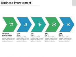Business Improvement Ppt Powerpoint Presentation Ideas Sample Cpb