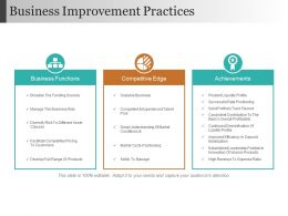 Business Improvement Practices Ppt Images
