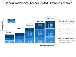 Business Improvement Random Sorted Organised Optimised