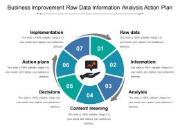 Business Improvement Raw Data Information Analysis Action Plan