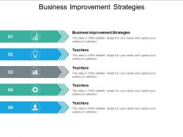 Business Improvement Strategies Ppt Powerpoint Presentation Icon Information Cpb