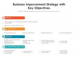 Business Improvement Strategy With Key Objectives