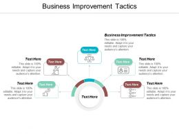 Business Improvement Tactics Ppt Powerpoint Presentation File Pictures Cpb