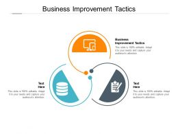 Business Improvement Tactics Ppt Powerpoint Presentation Summary Images Cpb