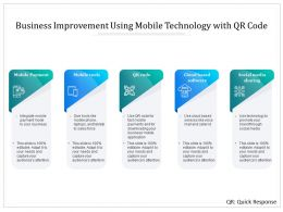 Business Improvement Using Mobile Technology With QR Code